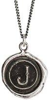 Pyrrha Unisex 925 Sterling Silver Initial J Talisman Necklace