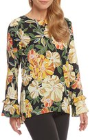 Preston & York Brianna Floral Print Blouse