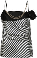Lanvin embellished striped blouse - women - Polyester/Triacetate - 36