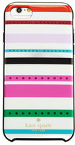 Kate Spade Fiesta Jeweled Striped Iphone 7 Case, Cream/Multi
