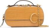 Chloé C ring crocodile-effect leather crossbody bag