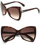 Tom Ford Eyewear Nico 60mm Oversized Sunglasses