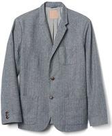 Gap Linen-cotton herringbone blazer