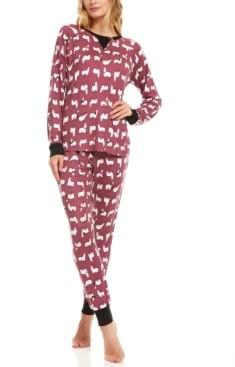 Flora Nikrooz Floral Nikrooz Collection Maddie Printed Hacci Pajama Set