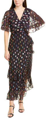 Saloni Rose Silk-Blend Maxi Dress