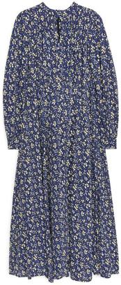 Arket Floral Crepe Dress