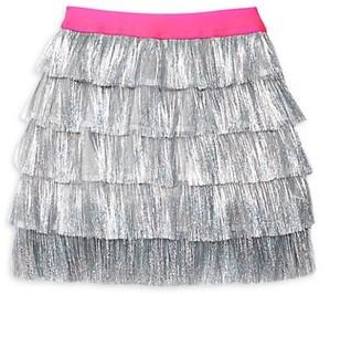 MIA New York Girl's Tinsel Fringe Skirt