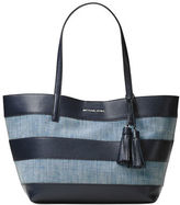 MICHAEL Michael Kors Striped Canvas Large East West Tote