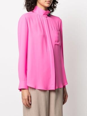 Maison Rabih Kayrouz Buttoned Mock-Neck Shirt