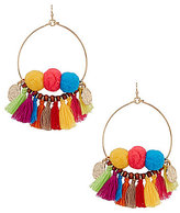 Anna & Ava Mia Pom Pom & Tassel Statement Drop Earrings