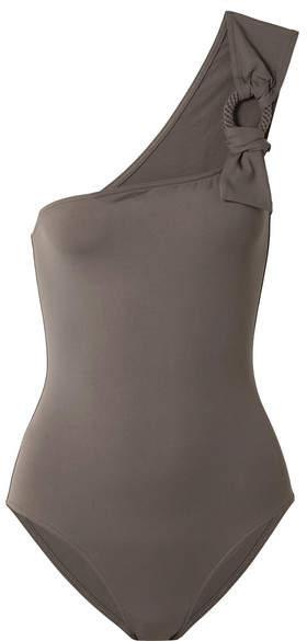 Eres Studio Cliché One-shoulder Embellished Swimsuit