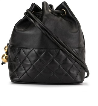 Chanel Pre Owned 1992 quilted CC drawstring shoulder bag