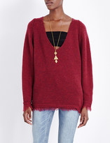 Free People Irresistible v-neck knitted jumper