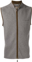 N.Peal zip up gilet - men - Suede/Cashmere - S