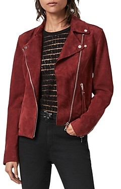 AllSaints Dalby Redge Suede Moto Jacket