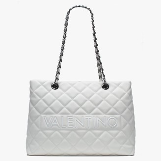 Valentino By Mario Valentino Large Licia White Quilted Tote Bag