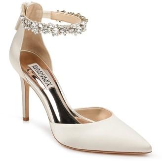 Badgley Mischka Evie Embellished Ankle Strap Pump