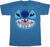 Mighty Fine Lilo and Stitch: Stitch Face Adult T-Shirt