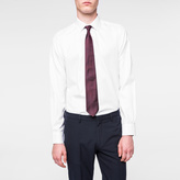 Paul Smith Men's Tailored-Fit White Cotton-Twill Shirt