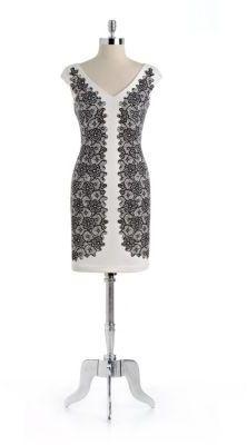 Maggy London Contrast Sheath Dress