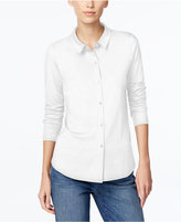 Eileen Fisher Long-Sleeve Button-Front Shirt