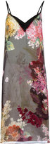 Lanvin floral chiffon overlay dress - women - Silk/Acetate/Viscose - 38