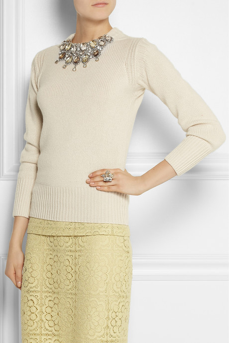Burberry Crystal-embellished cashmere sweater