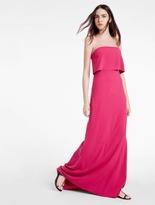 Halston Strapless Minimal Crepe Dress