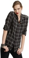 The Shirt by Joe's Studded Cotton Relaxed Raw Edge Top