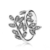 Pandora Shimmering Leaves Clear CZ Ring Size 5 - 190921CZ-50