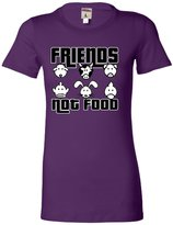 Go All Out Screenprinting Juniors Friends Not Food Vegetarian Vegan Animal Lovers T-Shirt