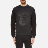 Versus Versace Embossed Medusa Lion Scuba Crew Neck Jumper Black