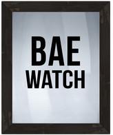 """PTM Images Bae Watch Framed Silkscreen Glass Wall Art - 21"""" x 17"""""""