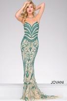 Jovani Long Embellished Halter Neck Pageant Dress 37583