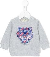 Kenzo logo print sweatshirt - kids - Cotton - 6 mth