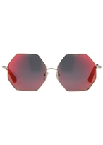Matthew Williamson Red Heptagon Sunglasses