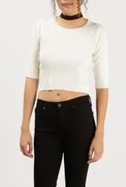 Azalea 3/4 Sleeve Crop Sweater Top