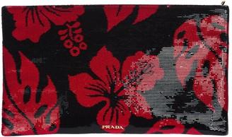 Prada Sequin Hibiscus Design Clutch