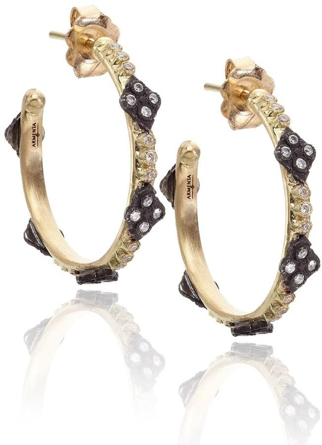 Armenta Gold Diamond Cravelli Hoops