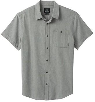 Prana Jaffra Short Sleeve Shirt (Breeze) Men's Short Sleeve Button Up