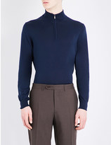 Canali Zip collar knitted jumper