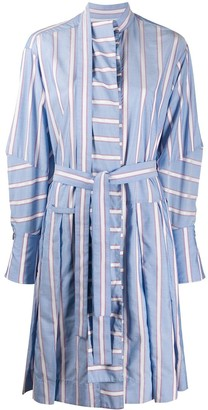 Palmer Harding Striped Tie Waist Shirt Dress