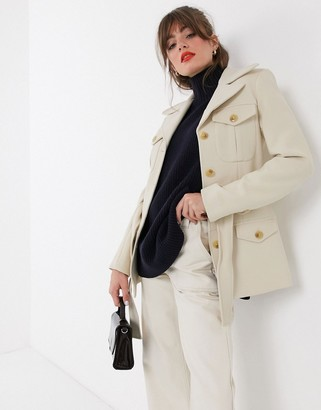 And other stories & structured belted jacket in cream