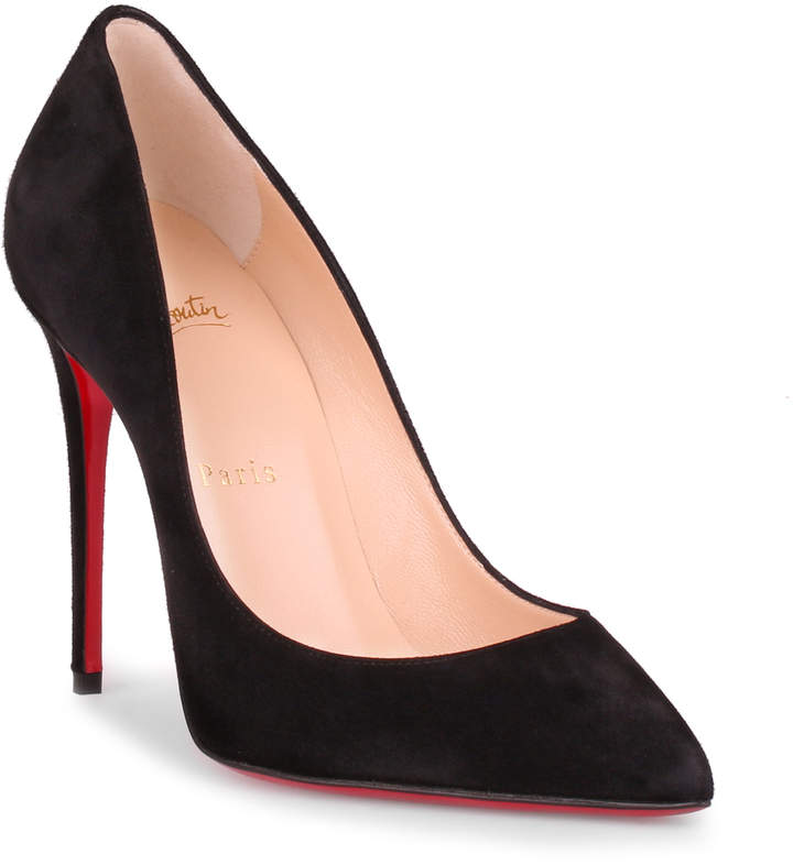 Christian Louboutin Pigalle Follies 100 black suede pump