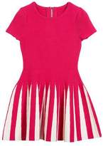Milly Minis Pleated Contrast Flare Dress, Size 4-7