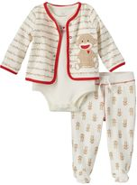 Baby Starters Baby Neutral Sock Monkey Pajama Set
