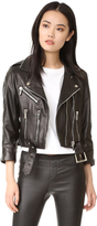Nour Hammour Avalon Cropped Motorcycle Jacket