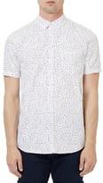 Topman Raindrop Print Short Sleeve Shirt