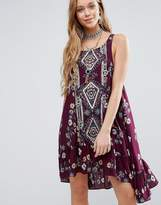 Free People Ankka Boarder Print Dress
