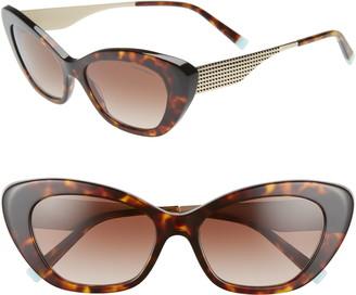 Tiffany & Co. Diamond Point 54mm Gradient Cat Eye Sunglasses